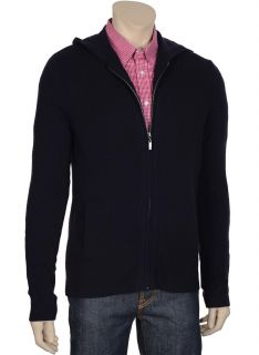 Bloomingdales Mens Cashmere Cardigan Sweater Small s Hoodie Zip Front