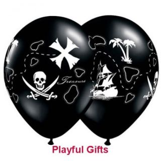 Pirate Treasure Map Latex Balloons
