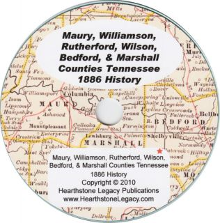 TENNESSEE SHELBYVILLE TN History Genealogy 207 Family Biographies