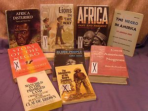 Lot 10 Black African American History Biography Books