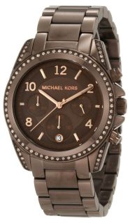 Womens Blair Watch with Brown Chronograph Dial MK5493
