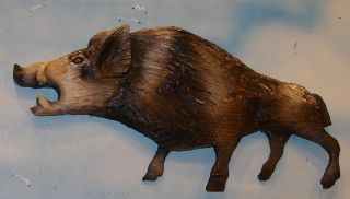 Chainsaw Carving Razorback Hog Carved Wild Boar Feral Swine Pig