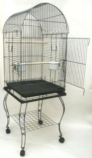 Parrot Bird Cage Cages Dome Top w Stand 20x20x57 0103