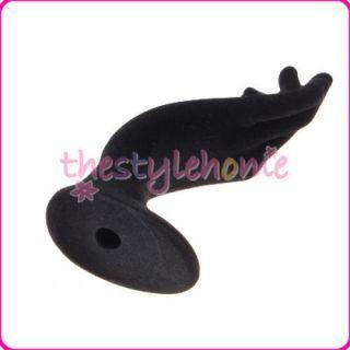 Black Velvet OK Hand Jewelry Ring Hanging Display Stand