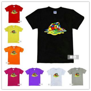 Sheldon Cooper THE bing bang THEORY Melting Rubiks Cube BLACK T