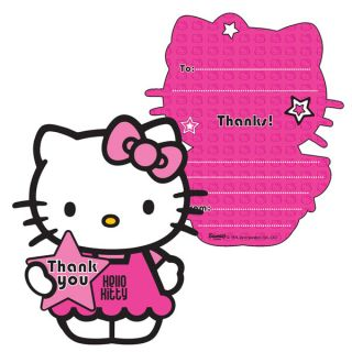 birthday party supplies hello kitty thank you cards pack of 6