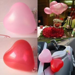 100 Pcs Heart Shape Wedding Party Birthday Latex Balloons 12