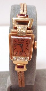 Blancpain ASYMMETRICAL14K Rose Gold Ruby Dia Watch