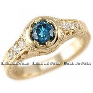 squaretrade ap6 0 natural blue diamond ring 14k yellow gold