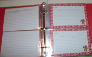 Holiday Recipes Refillable Recipe Organizer Book w/32 Recipe Cards