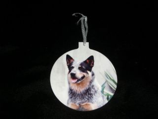 Blue Heeler Cattle Dog Christmas Tree Ornament New