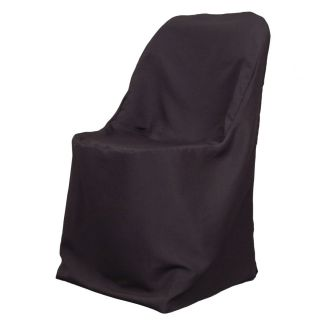 Polyester Folding Chair Cover Black High Quality for Wedding Shower or