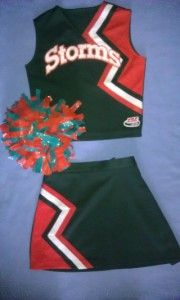 Cheerleader Uniform Outfit Halloween Black Tigers Costume