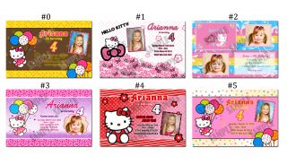 hello kitty custom birthday invitations