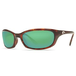 Costa Del Mar Harpoon Sunglasses Tortoise Frame Green Mirror Glass