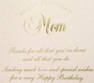 Carol Wilson Happy Birthday Mom Card Roses and Lace CG1432