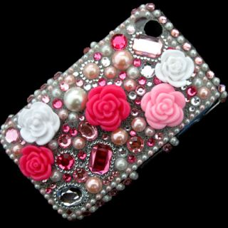 Bling Diamond Rhinestone Case Cover for Blackberry Curve 8520 8530