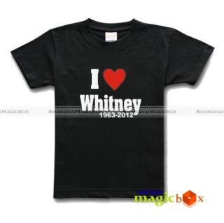 Heart Love Whitney Houston Rest in Peace Tribute Memorial T Shirt