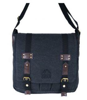 Canvas Satchel Messenger Courier Across Shoulder Bag Mens Ladies