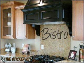 Bistro Vinyl Kitchen Wall Lettering Text Words Decor Decals Stickers