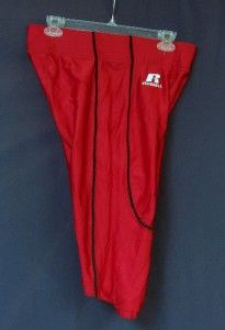 Russell Athletic Red Black No Fly Football Pants Large