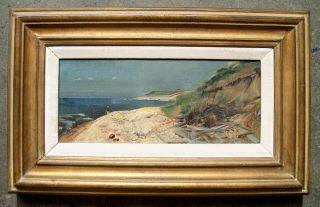 Furman Finck C 1950 Block Island Beach Painting Philadelphia Artist