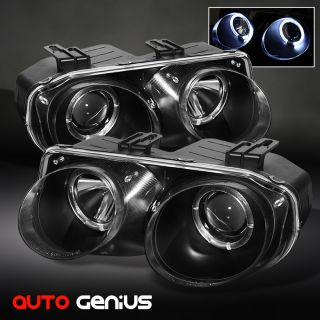 98 01 INTEGRA JDM BLACK HALO PROJECTOR HEADLIGHTS FRONT LAMPS INSTANT