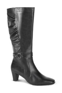 Blondo Callie Womens Black Leather Comfort Waterproof Wide Calf
