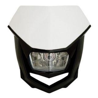 Halo H4 Headlight White Black Dirt Bike Motorcycle Enduro