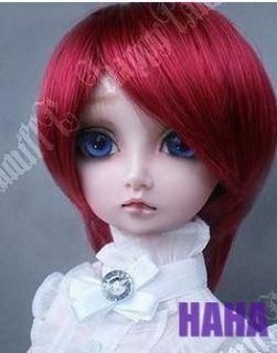 DAL Pullip BJD SD LUTS Blyth Doll Short Red Party Wig 8 9 Hair 22