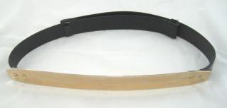 Bling Fashion Gold Tone Metal Plate Mirror OBI Corset Belt Waist
