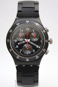 New Swatch Irony Chrono BlackNRed Men Watch YCB4008AG