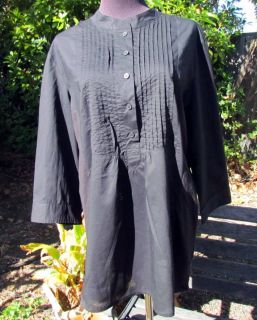 Coldwater Creek Black Pin Tucked Holiday Blouse x L 18