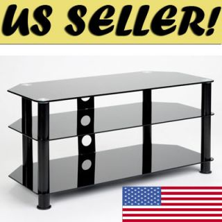 TEMPERED BLACK GLASS PLASMA LCD LED TV DLP STAND CONSOLE Samsung LG