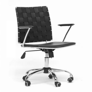 leather modern office chair home office chair alc 1866c black