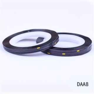 10pcs 1 mm Black Beautiful Striping Tape Line Nail Art Decoration