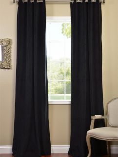 warm black grommet velvet blackout curtains drapes luxurious