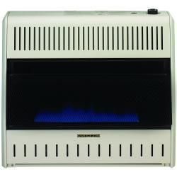 Procom 30K BTU Vent Free Blue Flame Gas Space Heater Dual Fuel With