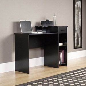 Desk Multiple Finishes Alder Oak Black or White Computer