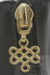 DVF Diane Von Furstenberg Black Opal Crisscross Sandal Wedges Size 8