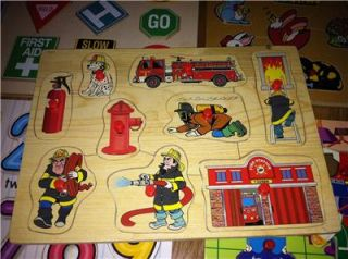 Preschool Wood Wooden Board Puzzle Learning Daycare Game Toddler Baby