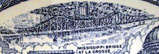 Wisconsin 1940s Vernon Kilns Pottery Ultra Blue Plate