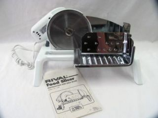 Rival Electric Food Slicer Model 1101/8 EUC w/ instruction manual