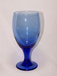 Libbey Glass Mediterranean Cobalt Blue Water Ice Tea Goblets Glasses