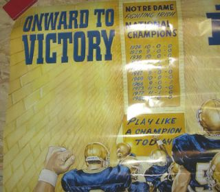 2000 NOTRE DAME FIGHTING IRISH VS NEBRASKA HUSKERS GAME DAY POSTER