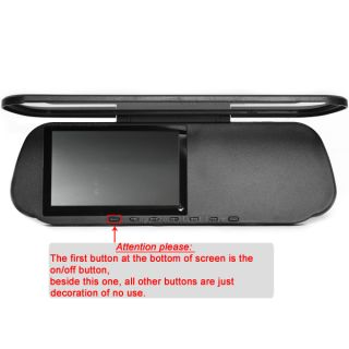 Touchscreen Rearview Mirror Bluetooth Truck GPS +20M Rear Wired Camera