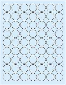 Sheets 1 Round Circle Blank Blue Stickers 378 Labels