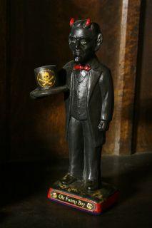 OLE FUNNY BOY Statue Robert Johnson Crossroads Hoodoo Antiqued Paint