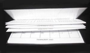 Pink Purple Leopard Print Fabric 2yr Calendar Planner