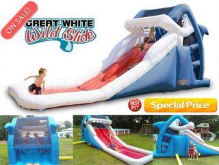 Blast Zone Great White Shark Inflatable Water Splash & Slide